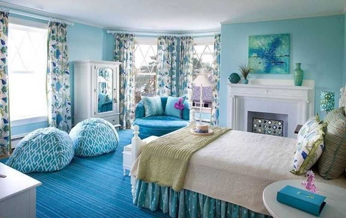46 Elegant Blue Themed Bedroom Ideas - HOMISHOME