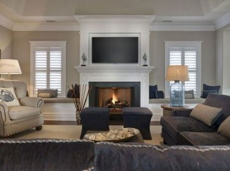 Lovely Fireplace Living Rooms Decorations Ideas03