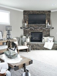 Lovely Fireplace Living Rooms Decorations Ideas05