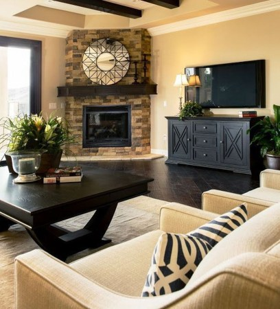 Lovely Fireplace Living Rooms Decorations Ideas06