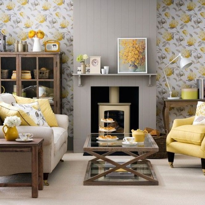 Lovely Fireplace Living Rooms Decorations Ideas14