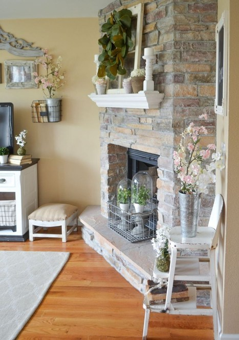 Lovely Fireplace Living Rooms Decorations Ideas15