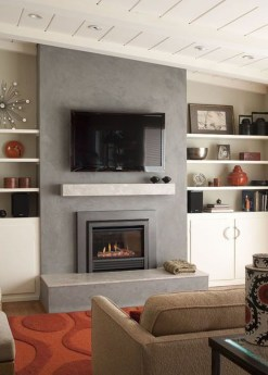 Lovely Fireplace Living Rooms Decorations Ideas22