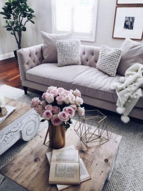 Lovely Roses Decor For Living Room10