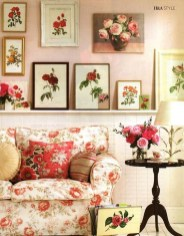 Lovely Roses Decor For Living Room14