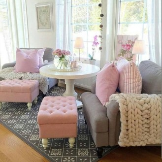 Lovely Roses Decor For Living Room21
