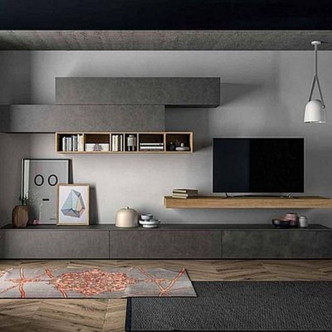 Amazing Wall Storage Items For Your Contemporary Living Room01