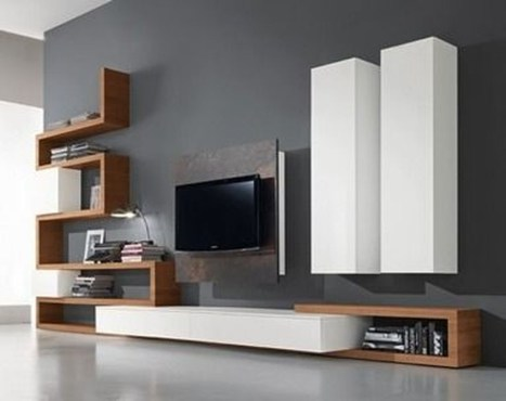 Amazing Wall Storage Items For Your Contemporary Living Room03