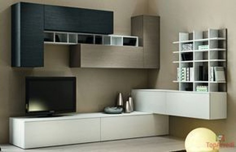 Amazing Wall Storage Items For Your Contemporary Living Room07
