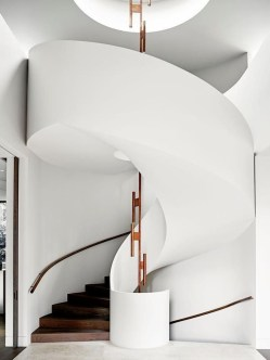 Modern Staircase Designs For Your New Home45