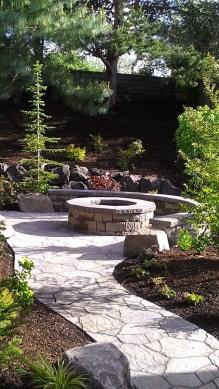 Simple Backyard Step Lights Fire Pits07