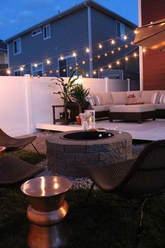 Simple Backyard Step Lights Fire Pits15