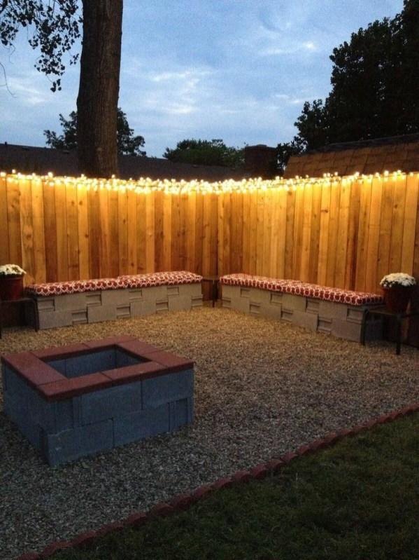 Simple Backyard Step Lights Fire Pits16