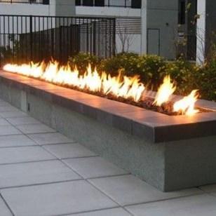 Simple Backyard Step Lights Fire Pits21