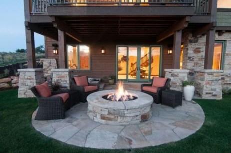 Simple Backyard Step Lights Fire Pits38
