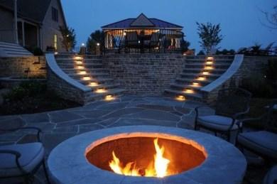 Simple Backyard Step Lights Fire Pits46