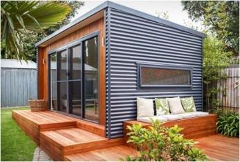 Amazing Backyard Studio Shed Design15