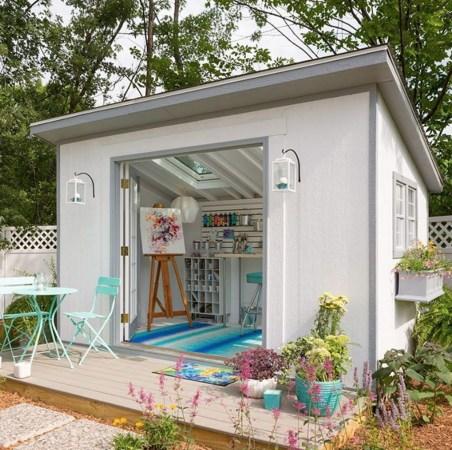 Amazing Backyard Studio Shed Design20