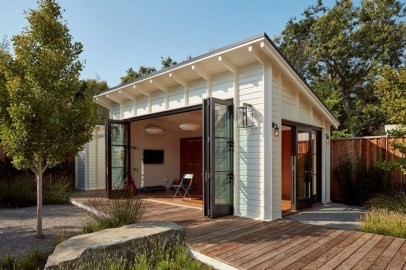 Amazing Backyard Studio Shed Design35
