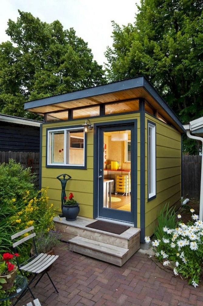 Amazing Backyard Studio Shed Design39