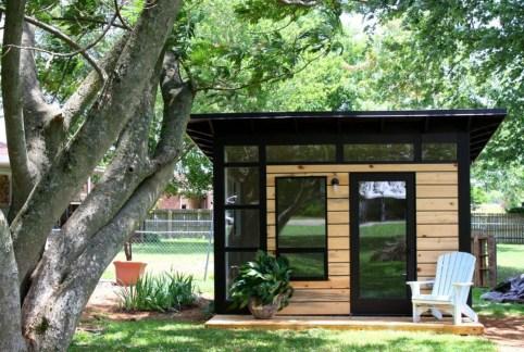 Amazing Backyard Studio Shed Design40