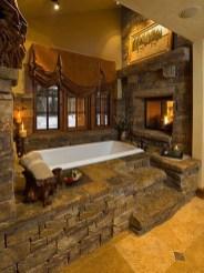 Elegant Stone Bathroom Design38