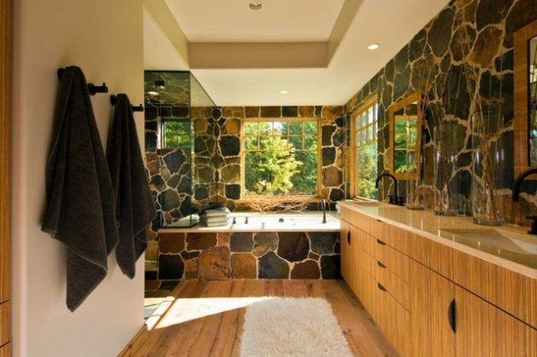 Elegant Stone Bathroom Design41