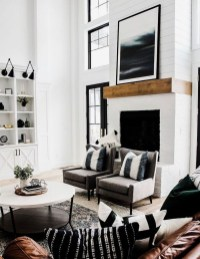 Lovely Black And White Living Room Ideas03