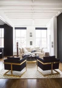 Lovely Black And White Living Room Ideas11