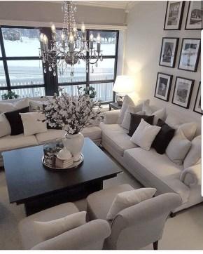 Lovely Black And White Living Room Ideas18