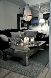 Lovely Black And White Living Room Ideas22