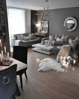 Lovely Black And White Living Room Ideas25