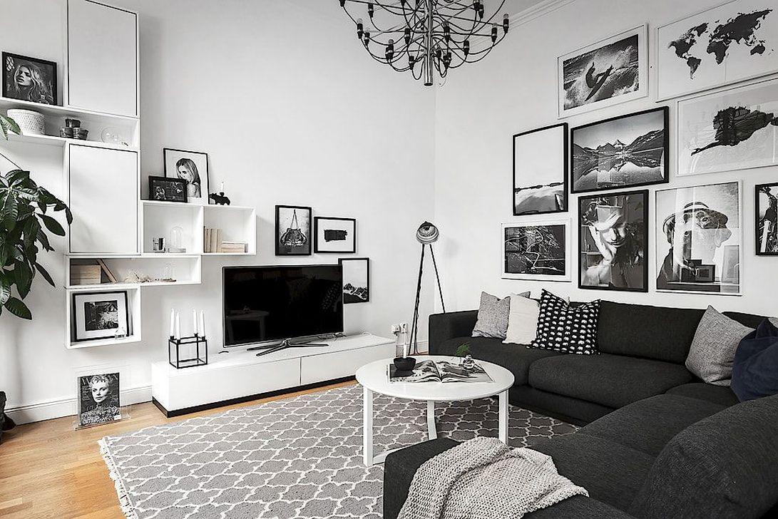 Lovely Black And White Living Room Ideas37