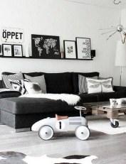 Lovely Black And White Living Room Ideas38