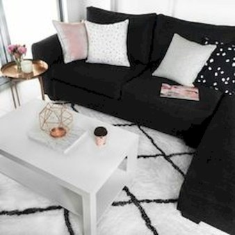 Lovely Black And White Living Room Ideas42