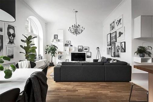Lovely Black And White Living Room Ideas44