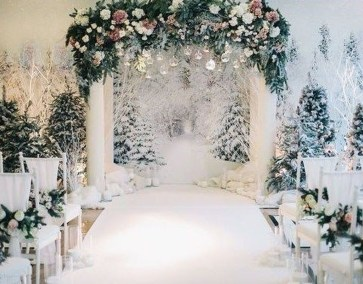Lovely Winter Wedding Decoration03