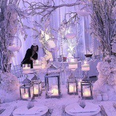 Lovely Winter Wedding Decoration17