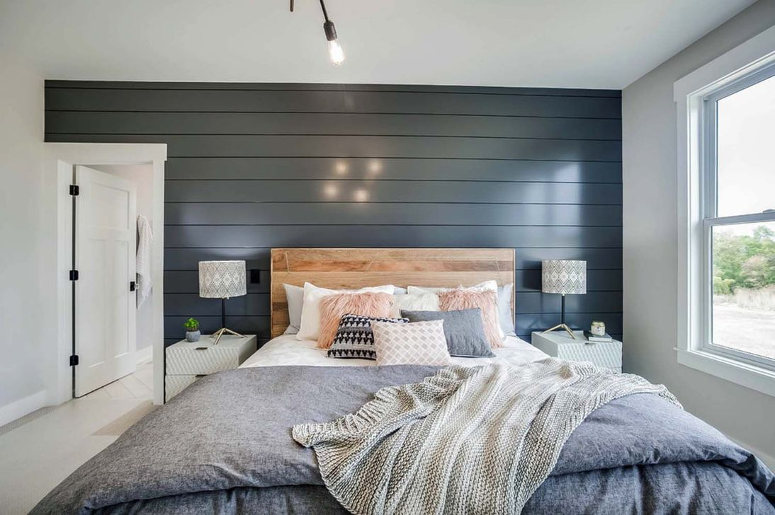 37 Modern Farmhouse Bedroom Ideas - HOMISHOME