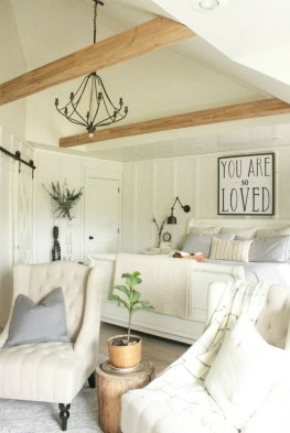 Modern White Farmhouse Bedroom Ideas39