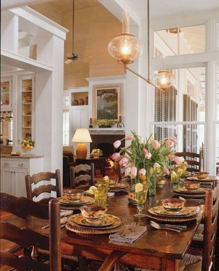 Stunning Country Dining Room Design Ideas07