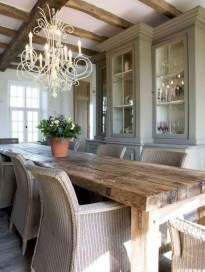 Stunning Country Dining Room Design Ideas19