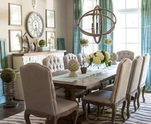 Stunning Country Dining Room Design Ideas35