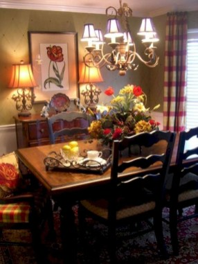 Stunning Country Dining Room Design Ideas36