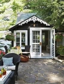Awesome Comfy Backyard Studio Ideas12
