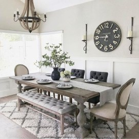 Awesome Country Dining Room Table Decor Ideas05