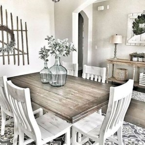 Awesome Country Dining Room Table Decor Ideas20