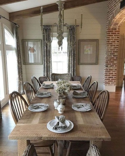 Awesome Country Dining Room Table Decor Ideas22