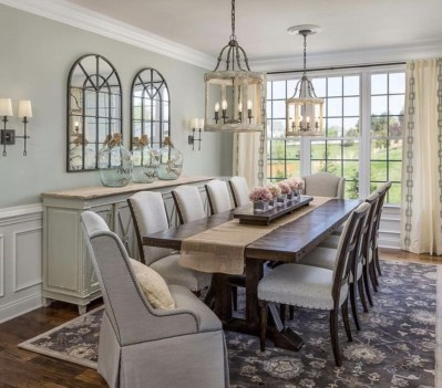 Awesome Country Dining Room Table Decor Ideas37