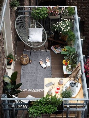 Exciting Small Balcony Decorating For Farmhouse31